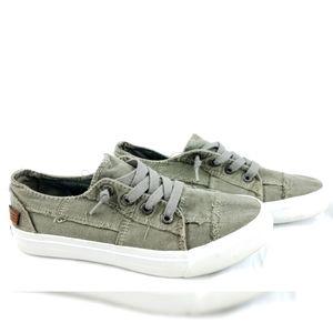 Blowfish Army Green Malibu Canvas Sneakers 9.5